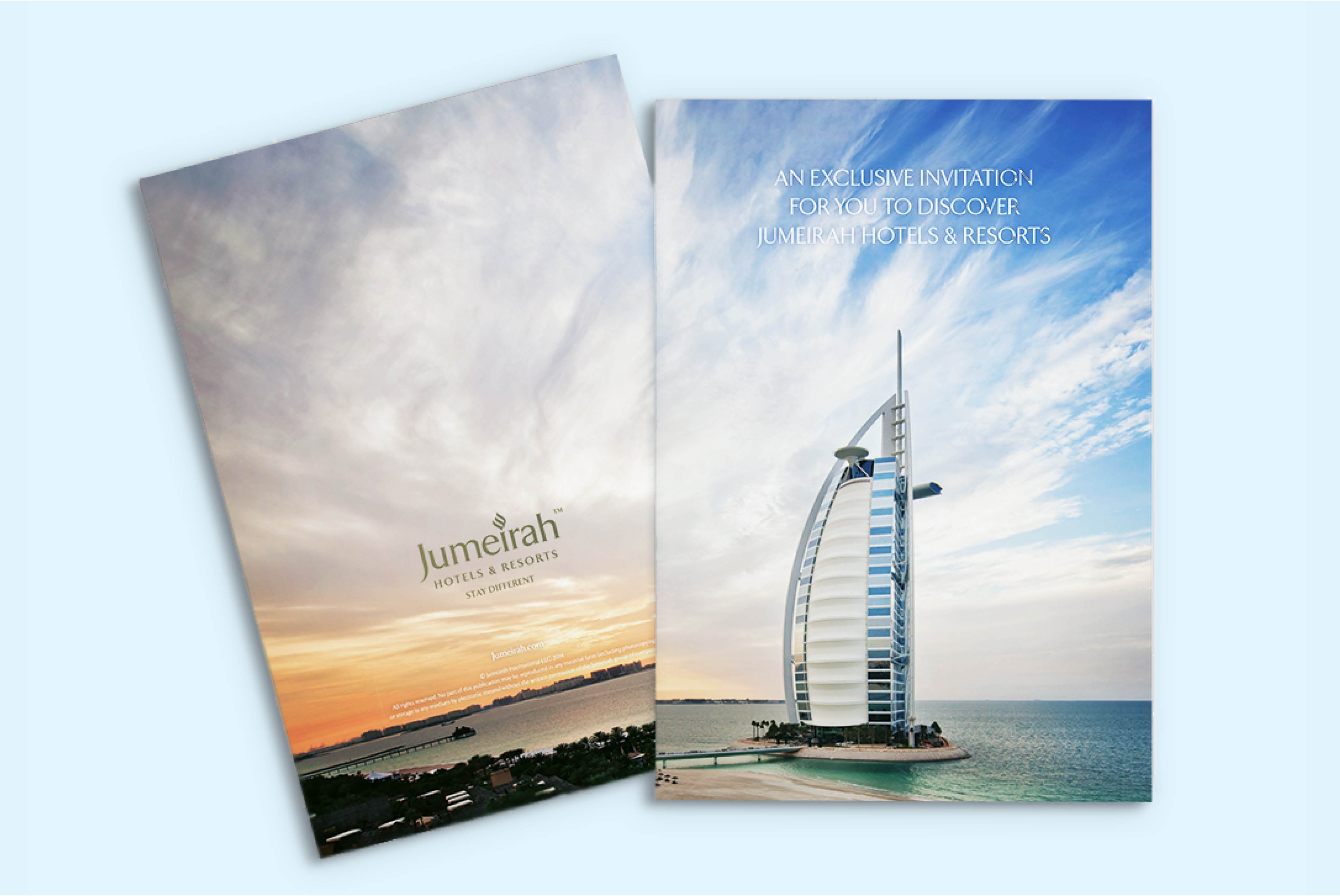 Jumeirah Hotels | Advertising and Creative Strategy - Jumeirah Brochure | Independent Marketing - IM London