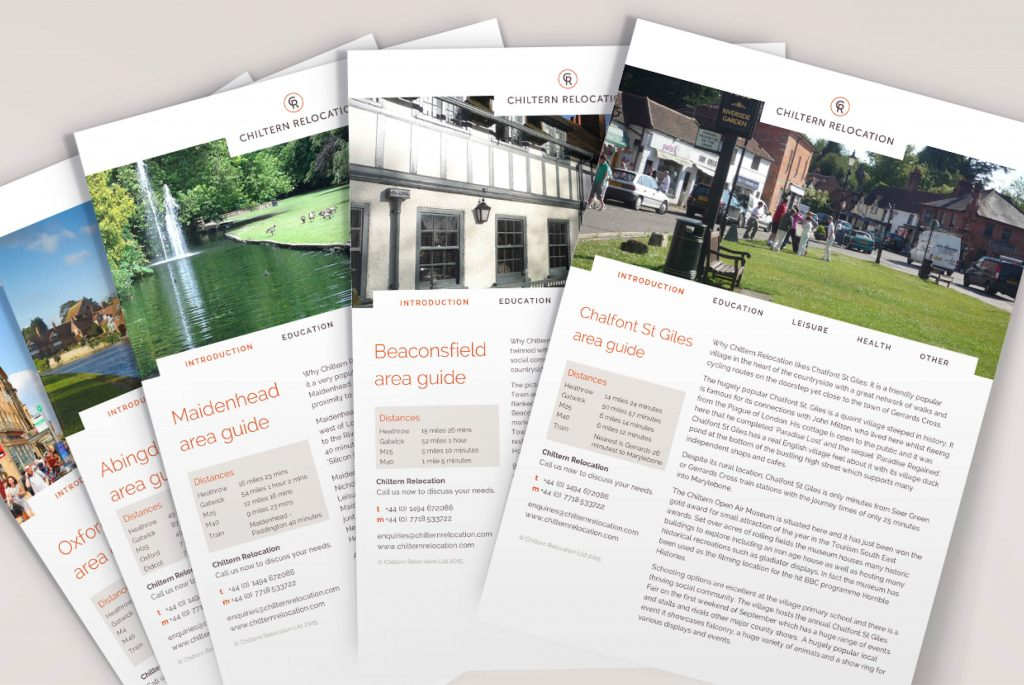 Chiltern Relocation Guides | IM London | Independent Marketing London | London Website Designer