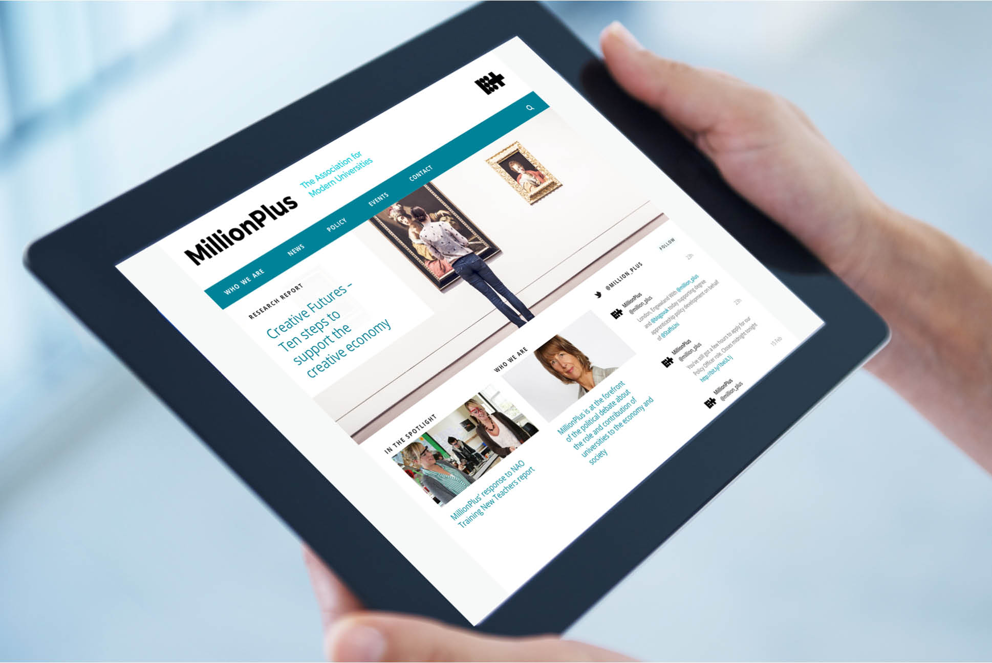 MillionPlus website   Education Branding London   Independent Marketing London   IM London