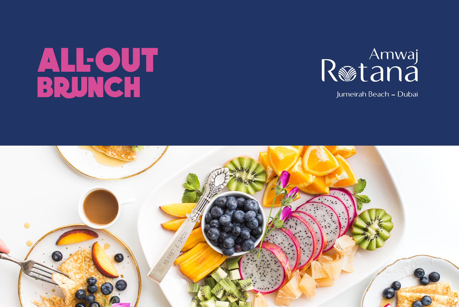 All-out Brunch Branding | All-out Brunch Poster | Amwaj Rotana | Independent Marketing Campaign & Advertising Services | IM London