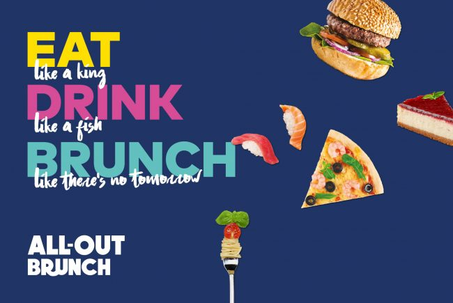 All-out Brunch Poster | Amwaj Rotana | Independent Marketing Campaign & Advertising Services | IM London