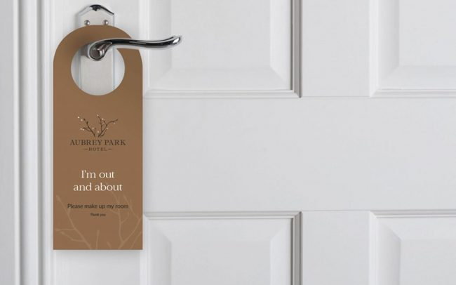 Aubrey Park doorhanger | Branding and Collateral - Independent Marketing | IM London