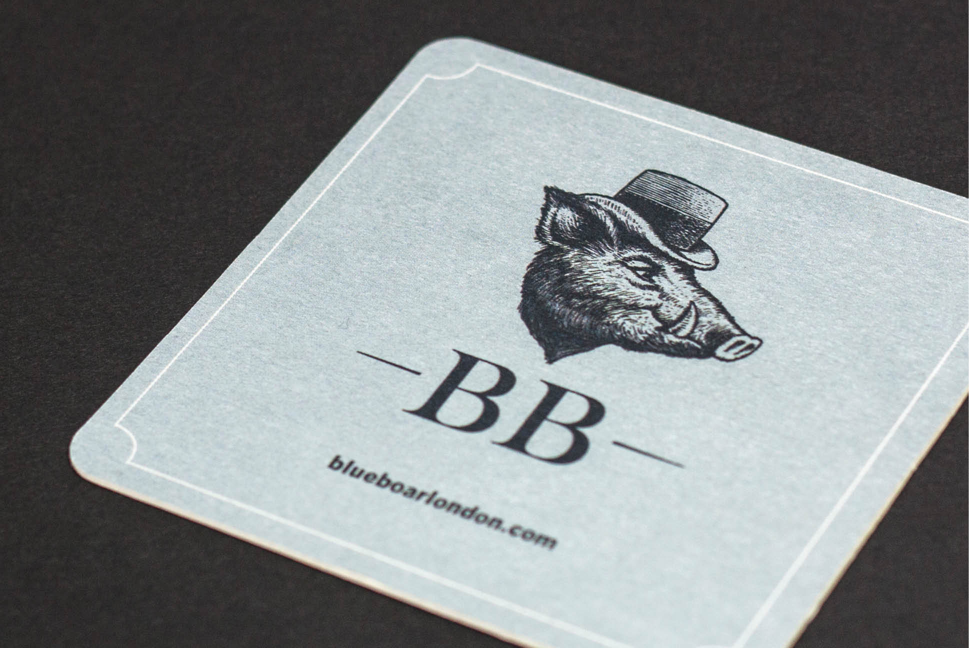 Blue Boar Coaster   Branding and Promotional Collateral - Independent Marketing   IM London   Restaurant Marketing in London
