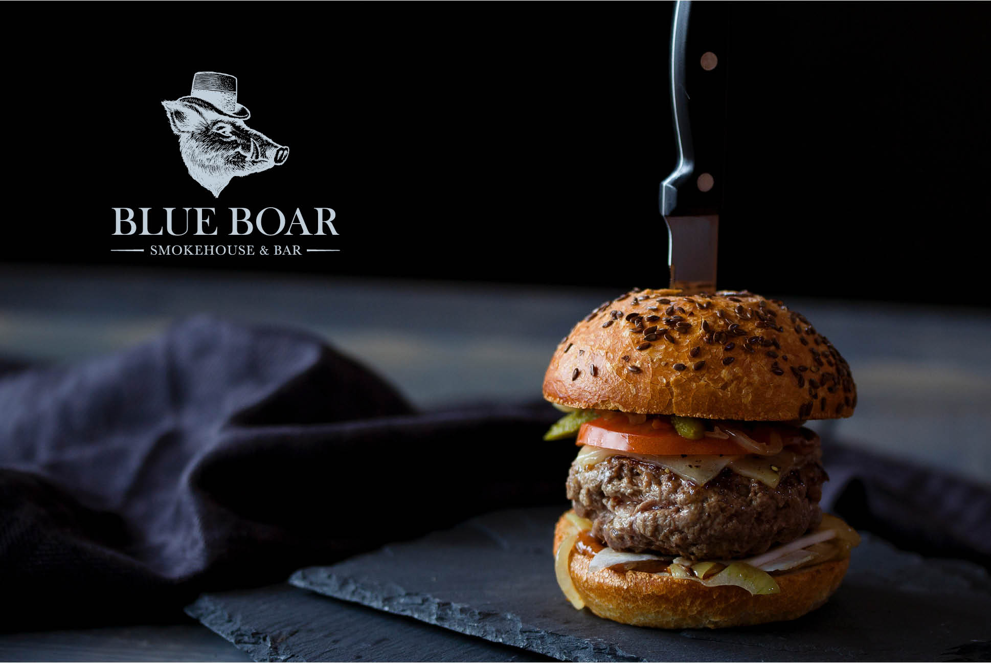 Blue Boar Branding   Branding and Promotional Collateral - Independent Marketing   IM London   Restaurant Marketing in London