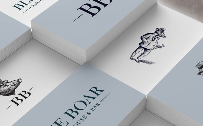 Blue Boar Brand identity | Branding and Promotional Collateral - Independent Marketing | IM London | Restaurant Marketing in London