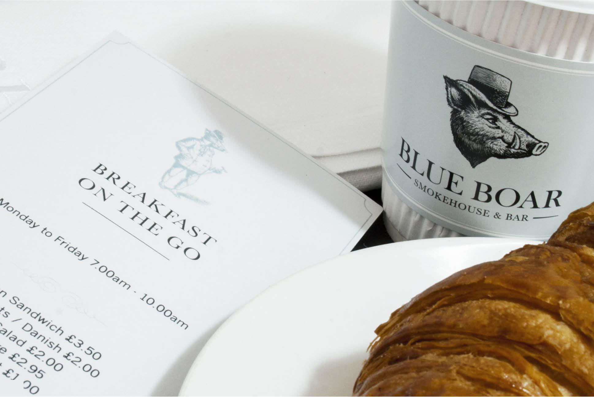 Blue Boar packaging | Branding and Promotional Collateral - Independent Marketing | IM London | Restaurant Marketing in London