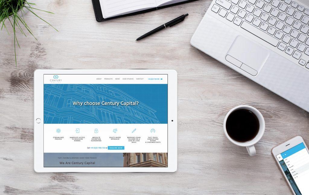 Century Capital website | Independent Marketing | IM London | Branding