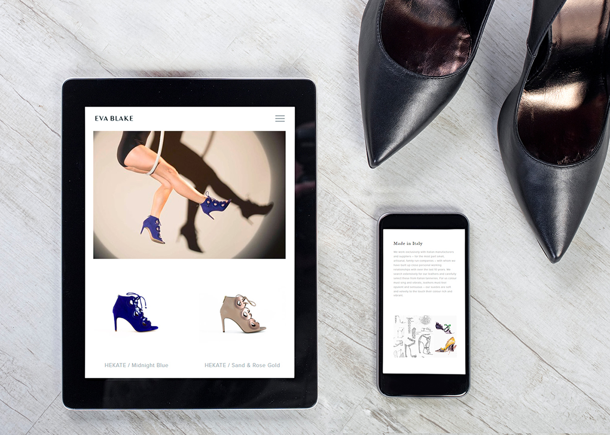 Eva Blake Website tablet and phone