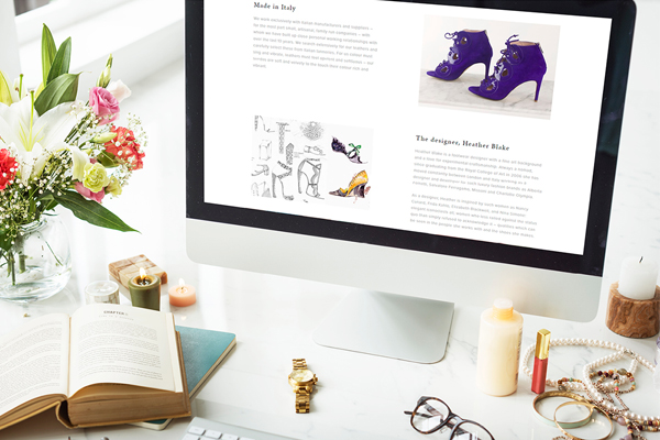 Eva Blake Shoes | Independent Marketing Start-Up Branding | IM London