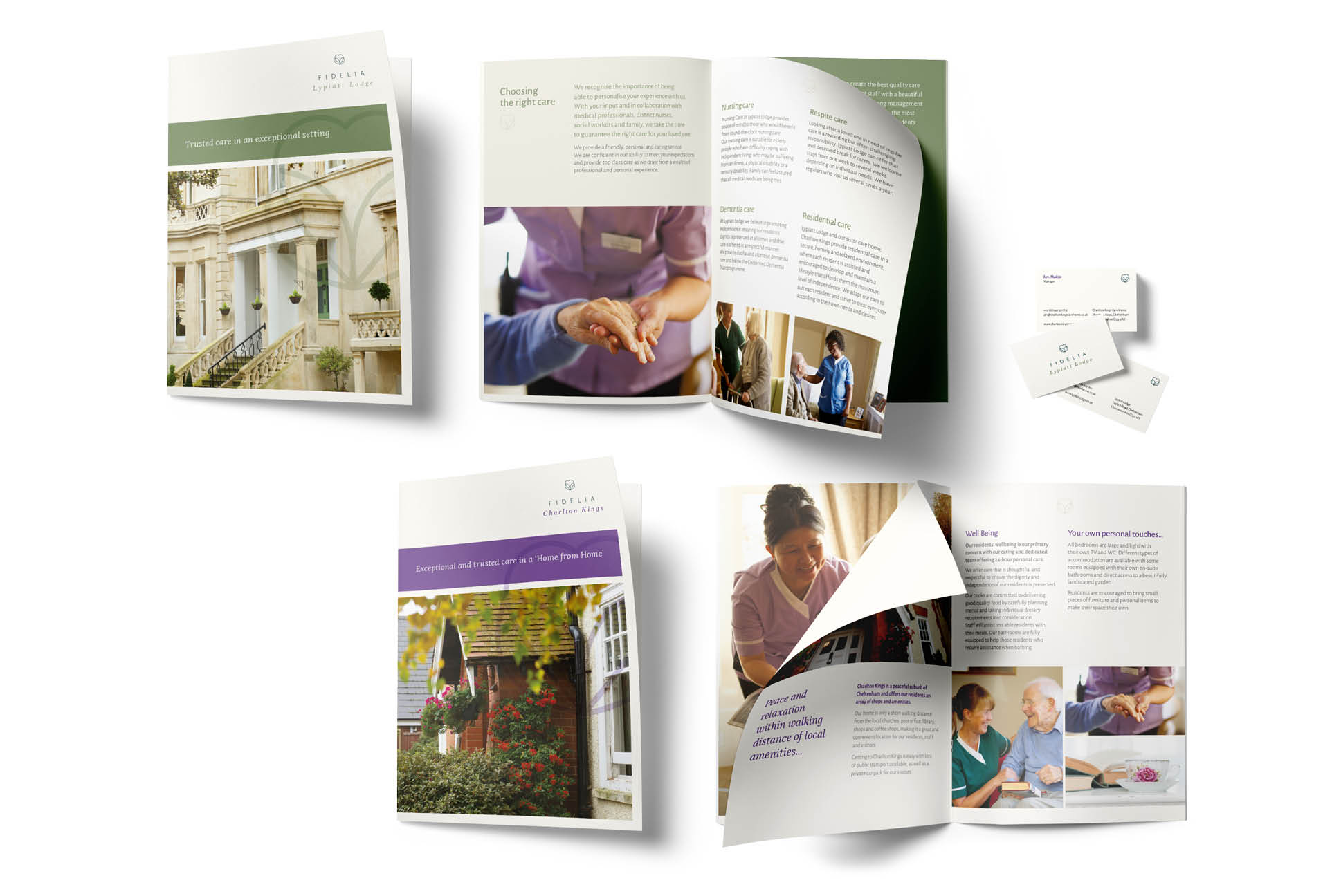 Fidelia brochures | IM London | Independent Marketing London | Healthcare Branding London