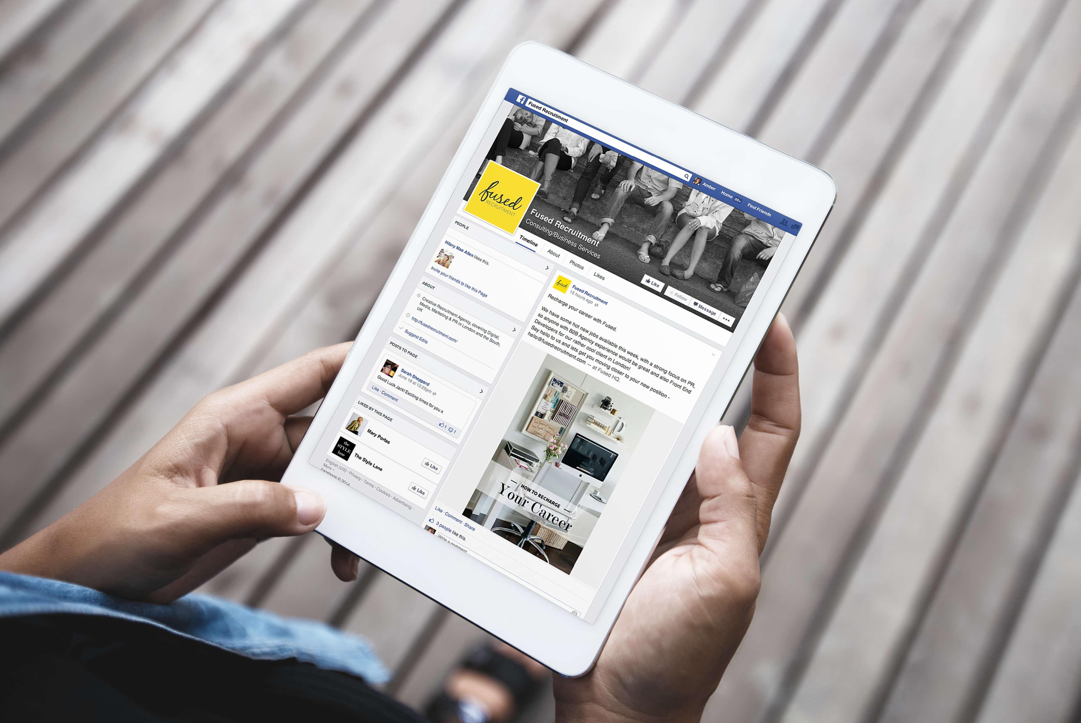 Fused Recruitment Facebook   Fused Recruitment Branding   Independent Marketing - IM London   London Branding Agency