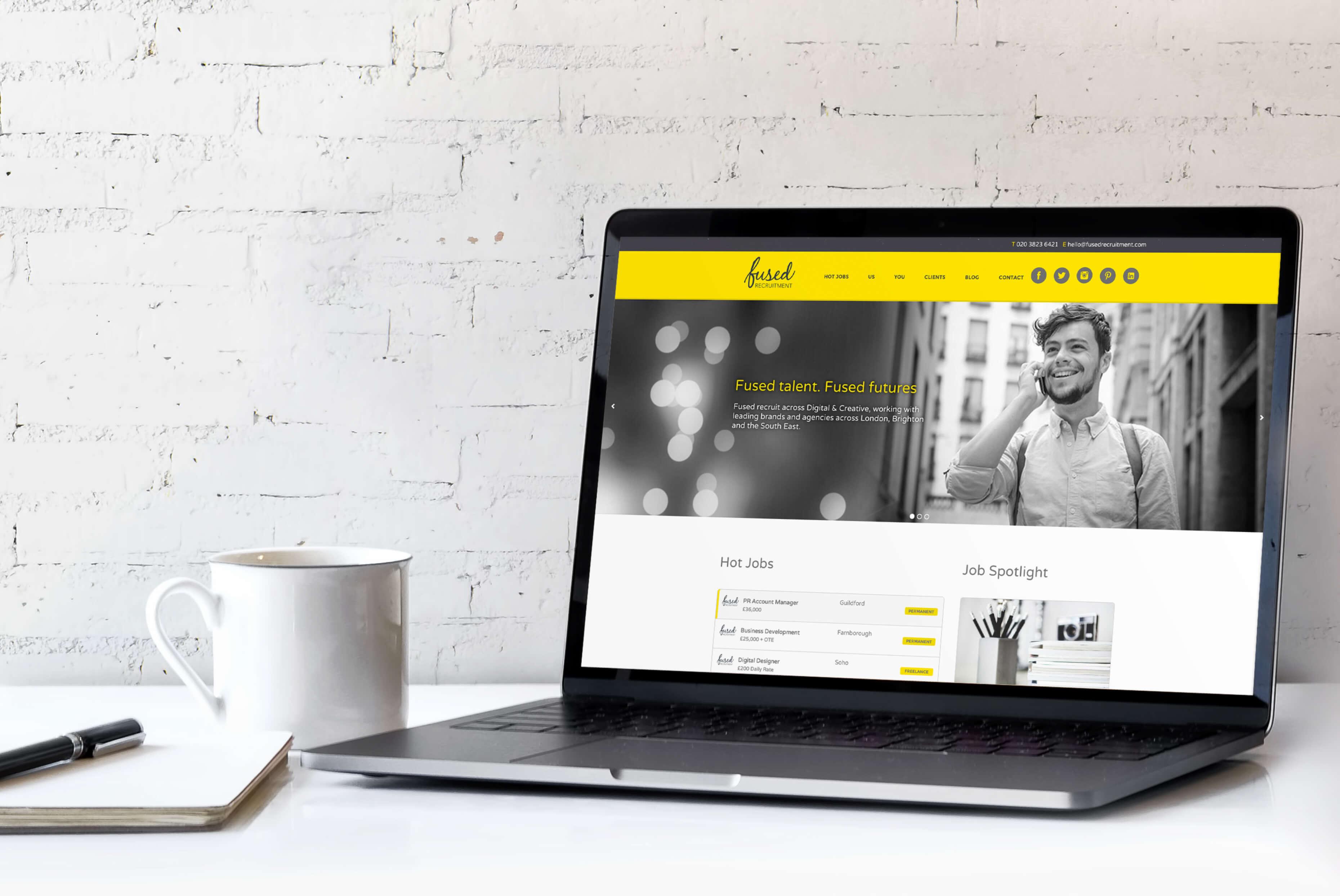 Fused Recruitment Website | Fused Recruitment Branding | Independent Marketing - IM London | London Branding Agency