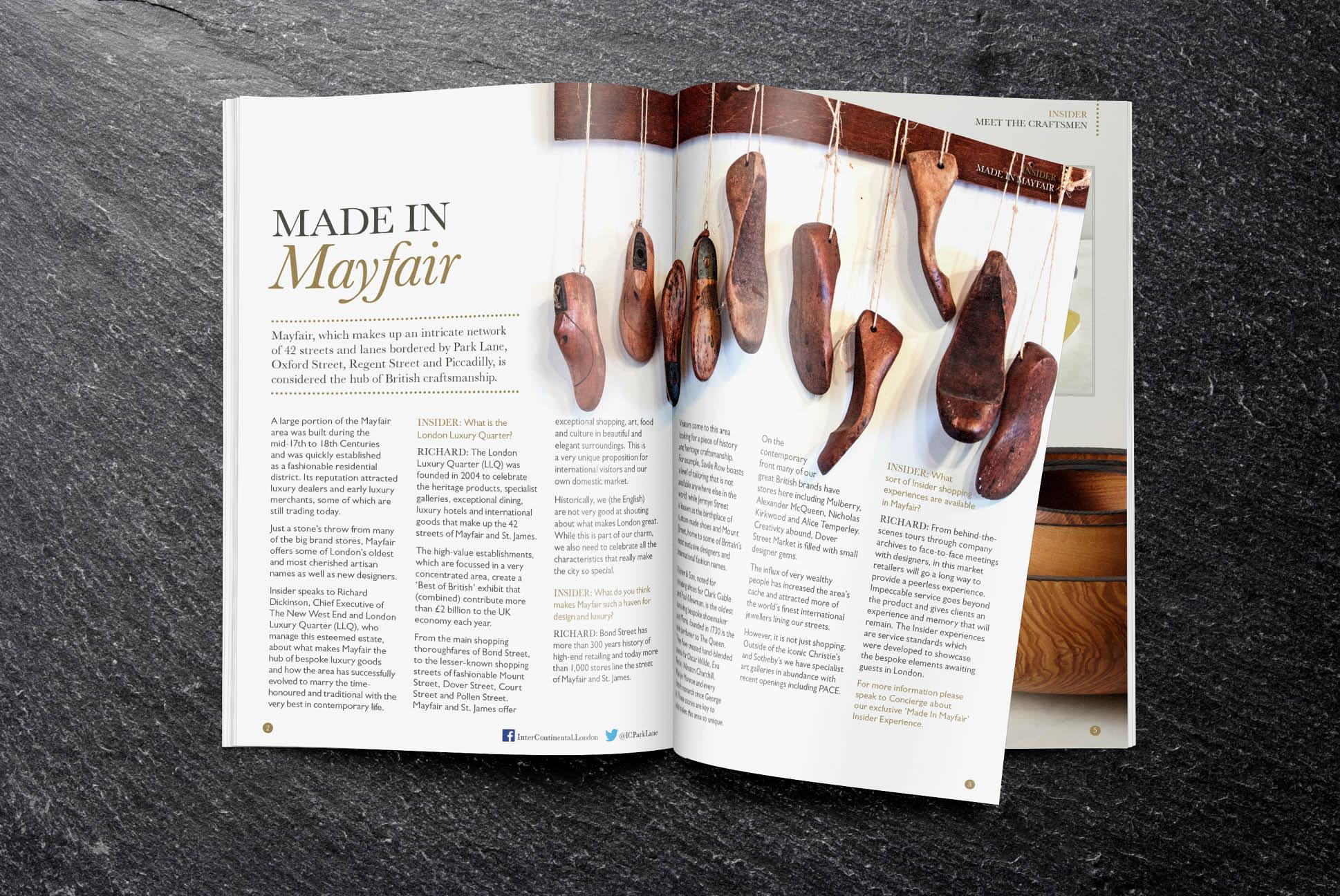 InterContinental Insider magazine | Brochure Design for InterContinental Hotels and Resorts | Independent marketing | IM London | London branding agency
