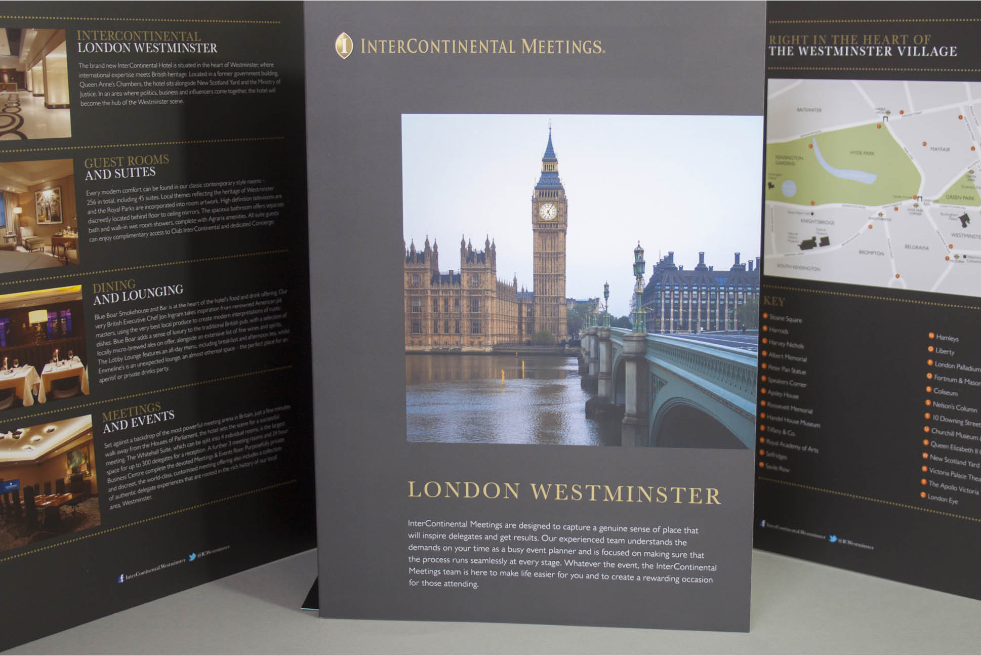 InterContinental meeting brochure and folder | Brochure Design for InterContinental Hotels and Resorts | Independent marketing | IM London | London branding agency