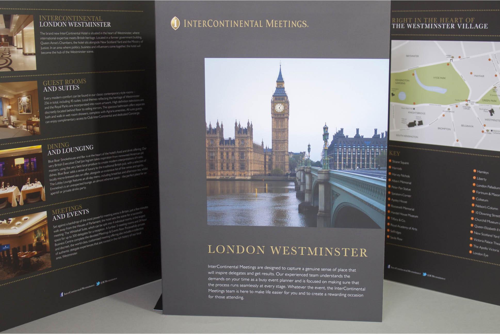 InterContinental meeting brochure and folder | Brochure Design for InterContinental Hotels and Resorts | Independent marketing | IM London | London branding agency