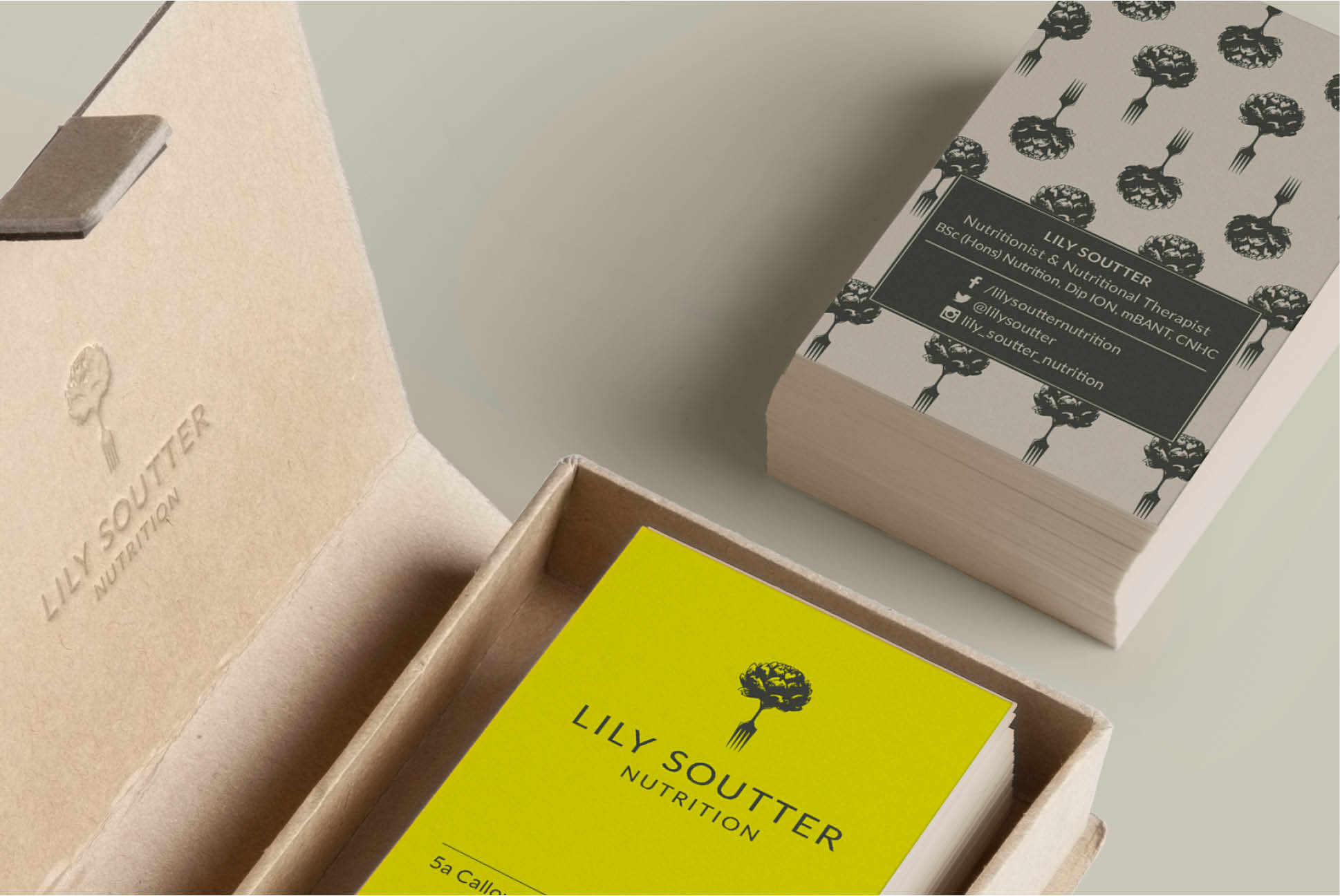 Lily Soutter Business Cards | Branding | Independent Marketing | IM London - London Branding Agency