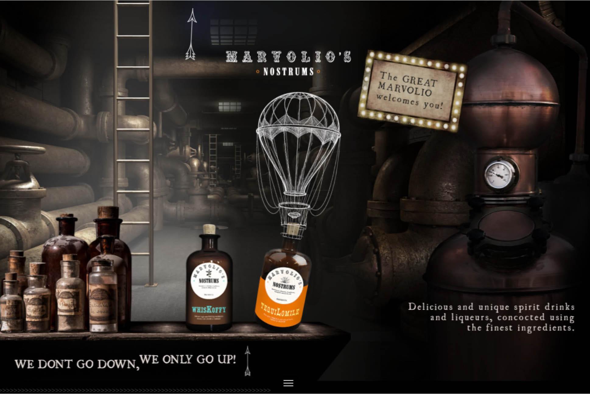 Marvolio's Nostrums | Independent Marketing Packaging, Design and Website Design Services | IM London