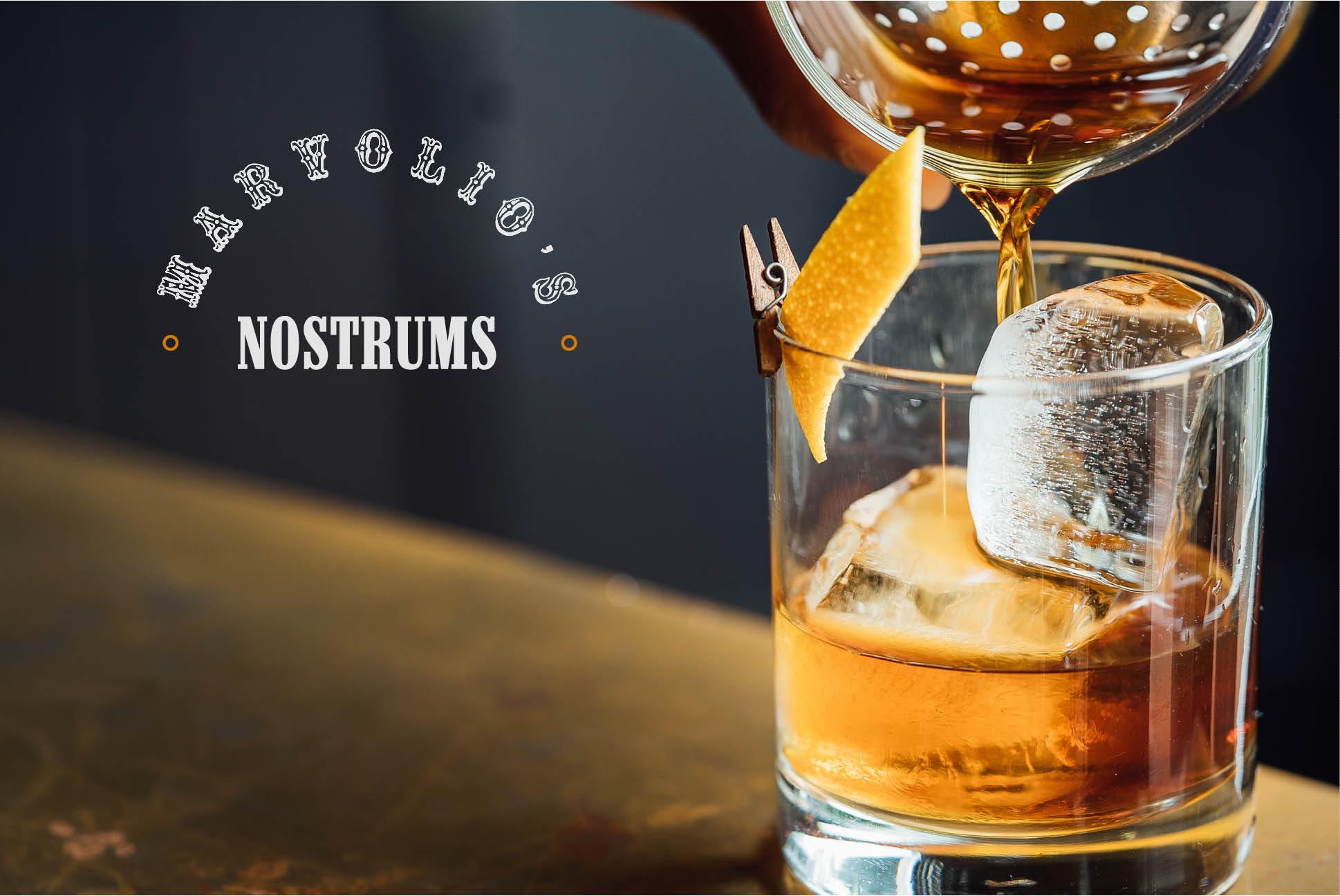 Marvolio's Nostrums branding   Marvolio's Nostrums   Independent Marketing Packaging, Design and Website Design Services   IM London