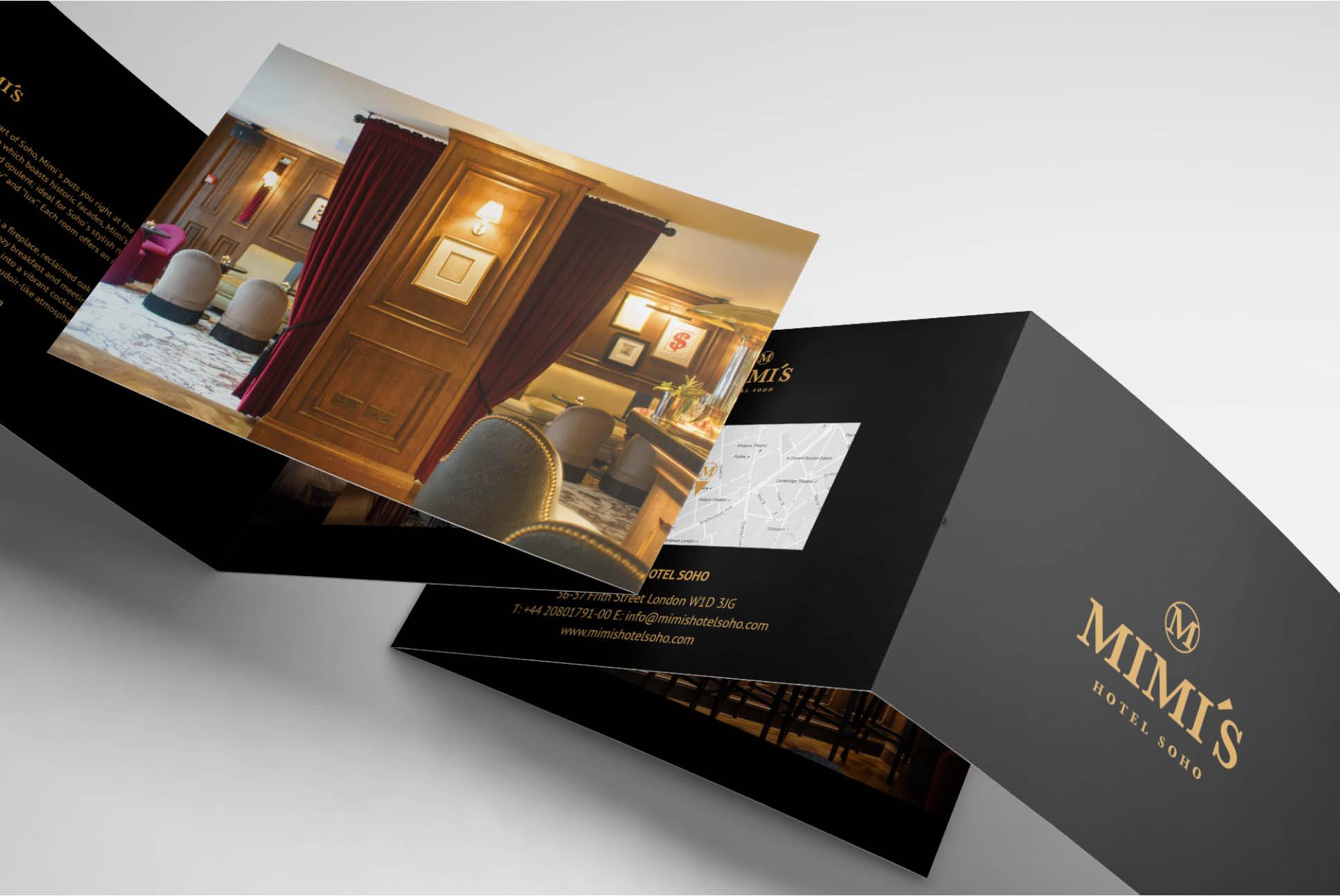 Mimi's Hotel Soho brochure | | Independent Marketing - IM London | Hospitality and Hotel Branding