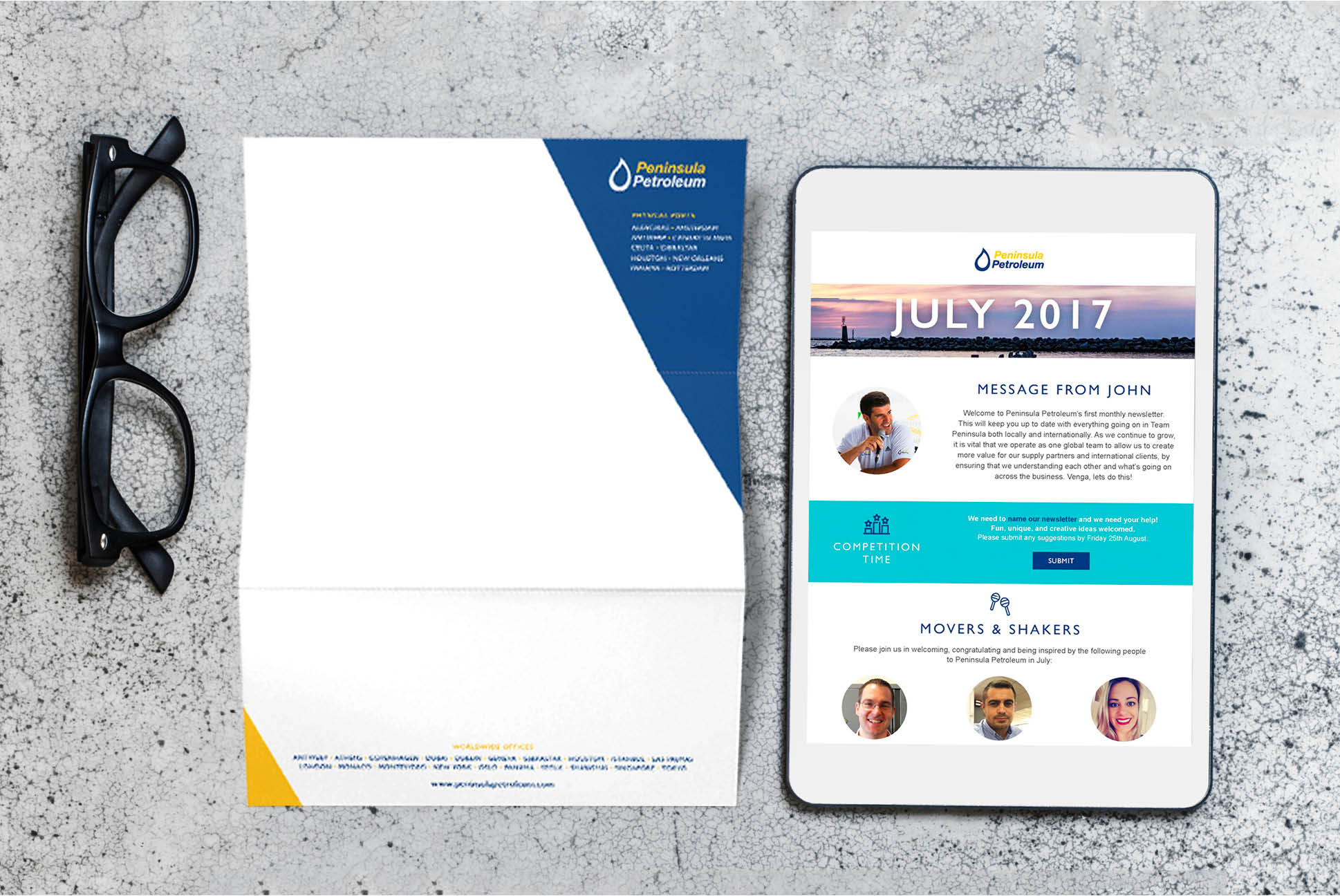 Peninsula Petroleum letterhead and email | Branding and Marketing Services - Independent Marketing | IM London