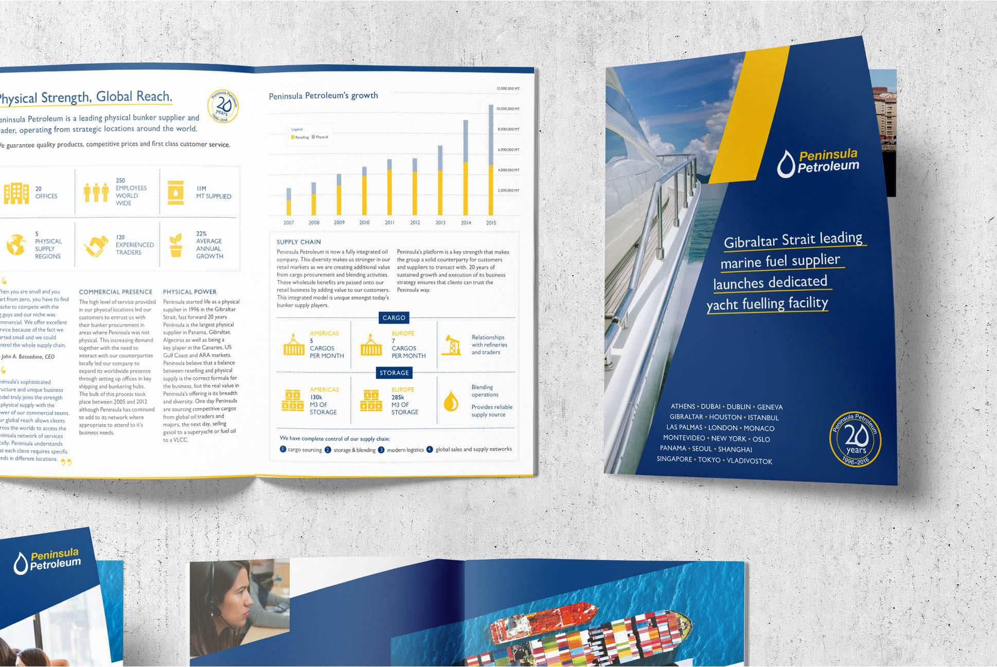 Peninsula Petroleum flyers | Branding and Marketing Services - Independent Marketing | IM London