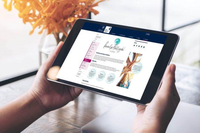 Pamela Hartigan Fund Landing Page | Independent Marketing | IM London | Branding and Website Design