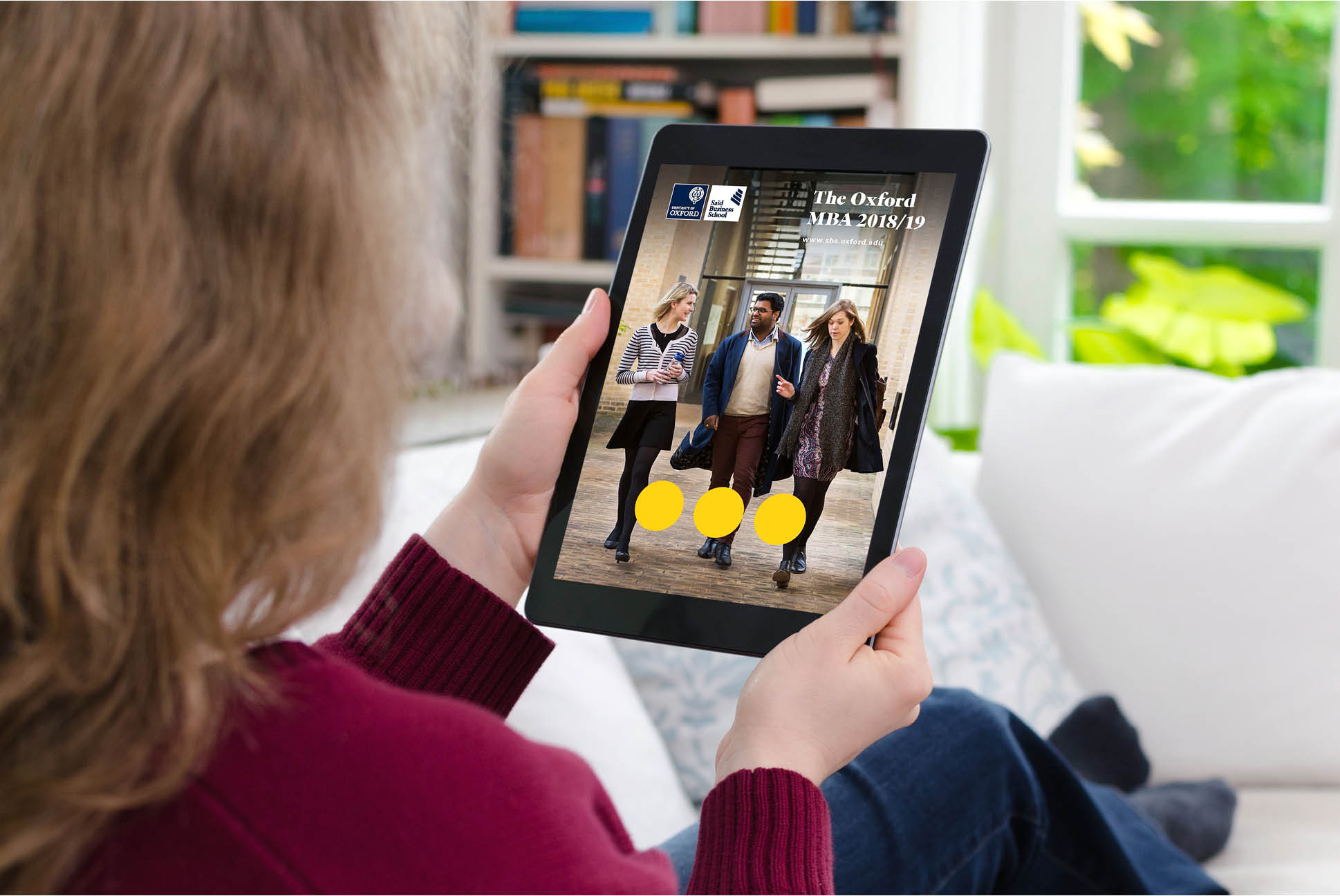 Saïd Business School MBA digital brochure | IM London - Independent Marketing | Education Branding London