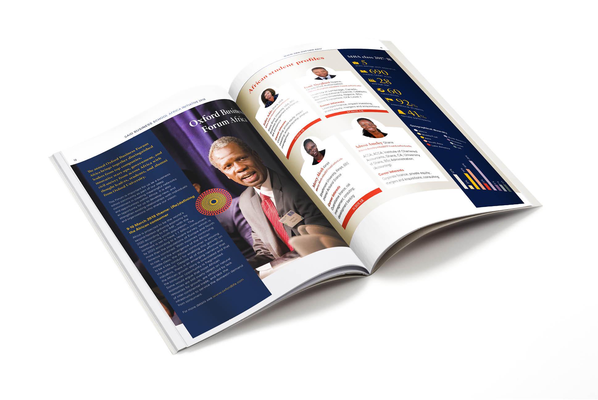 Saïd Business School Africa Update brochure | IM London - Independent Marketing | Education Branding London
