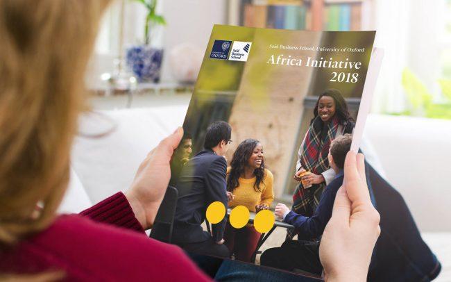 Saïd Business School Africa Initiative brochure   IM London - Independent Marketing   Education Branding London