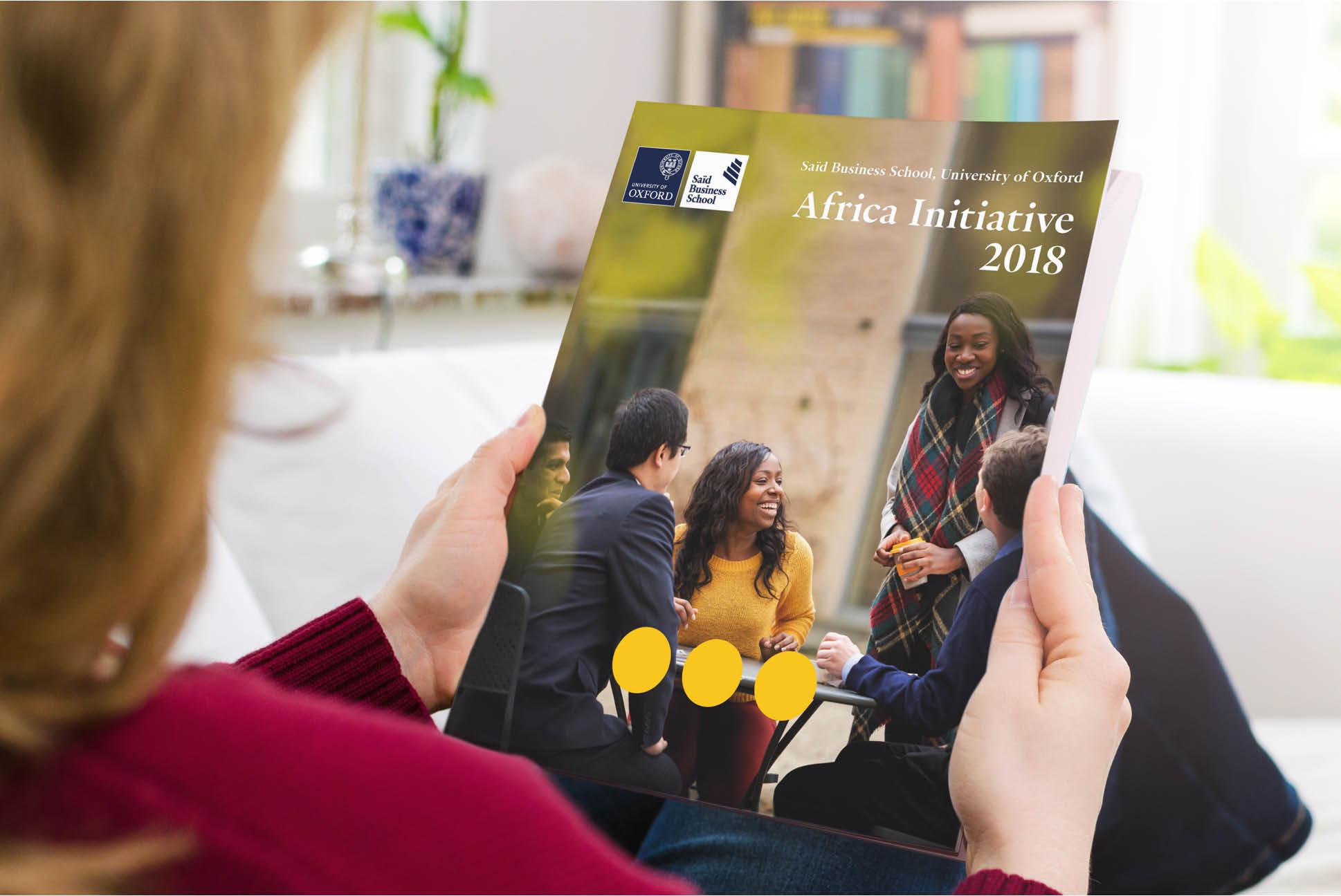 Saïd Business School Africa Initiative brochure | IM London - Independent Marketing | Education Branding London