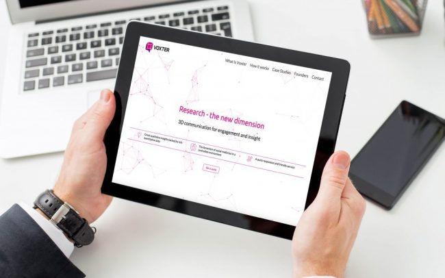 Voxter Website | Branding, Strategy, Print and Website Design from Independent Marketing | IM London