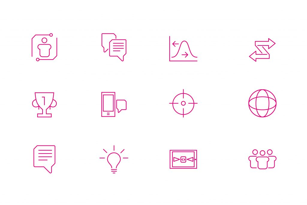Voxter Iconography | Branding, Strategy, Print and Website Design from Independent Marketing | IM London