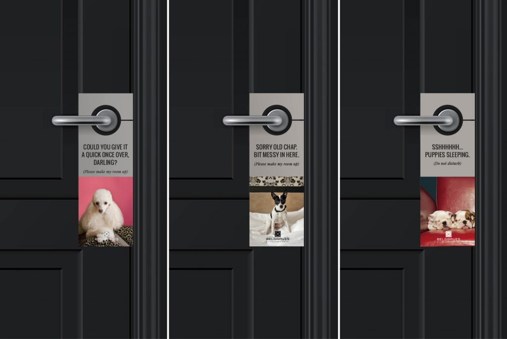Belgraves Doorhanger   Branding   Independent Marketing - IM London   London Branding Agency
