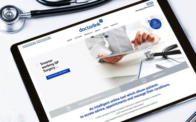 Doctorlink website   Branding, Website Design   Independent Marketing - IM London   London Branding Agency