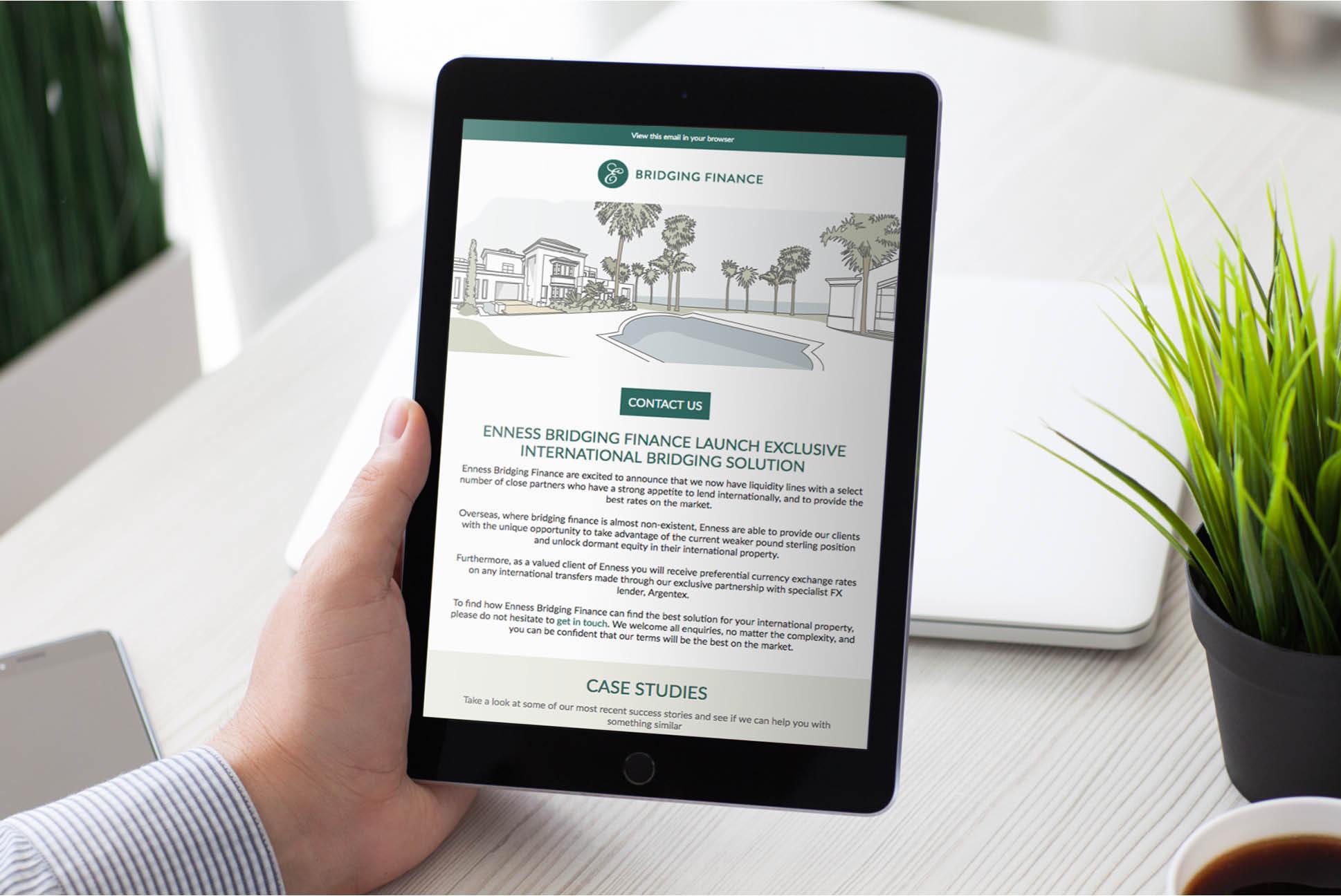 Enness Bridging email   Enness Website   Independent Marketing Brand Audit and Branding Refresh Services   IM London