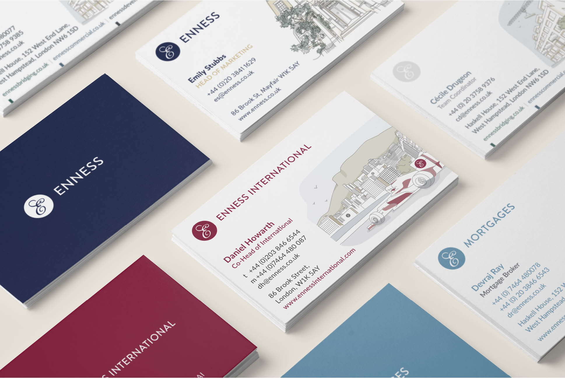 Enness Business cards   Enness Website   Independent Marketing Brand Audit and Branding Refresh Services   IM London