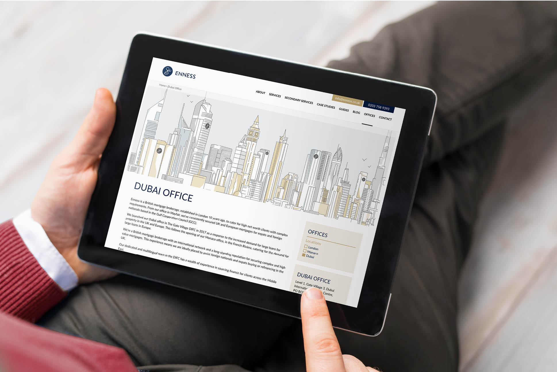 Enness Website   Independent Marketing Brand Audit and Branding Refresh Services   IM London