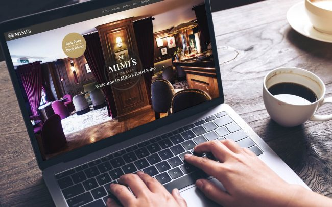 Mimi's Hotel Soho website | Independent Marketing - IM London | Hospitality and Hotel Branding | Mimi's Hotel