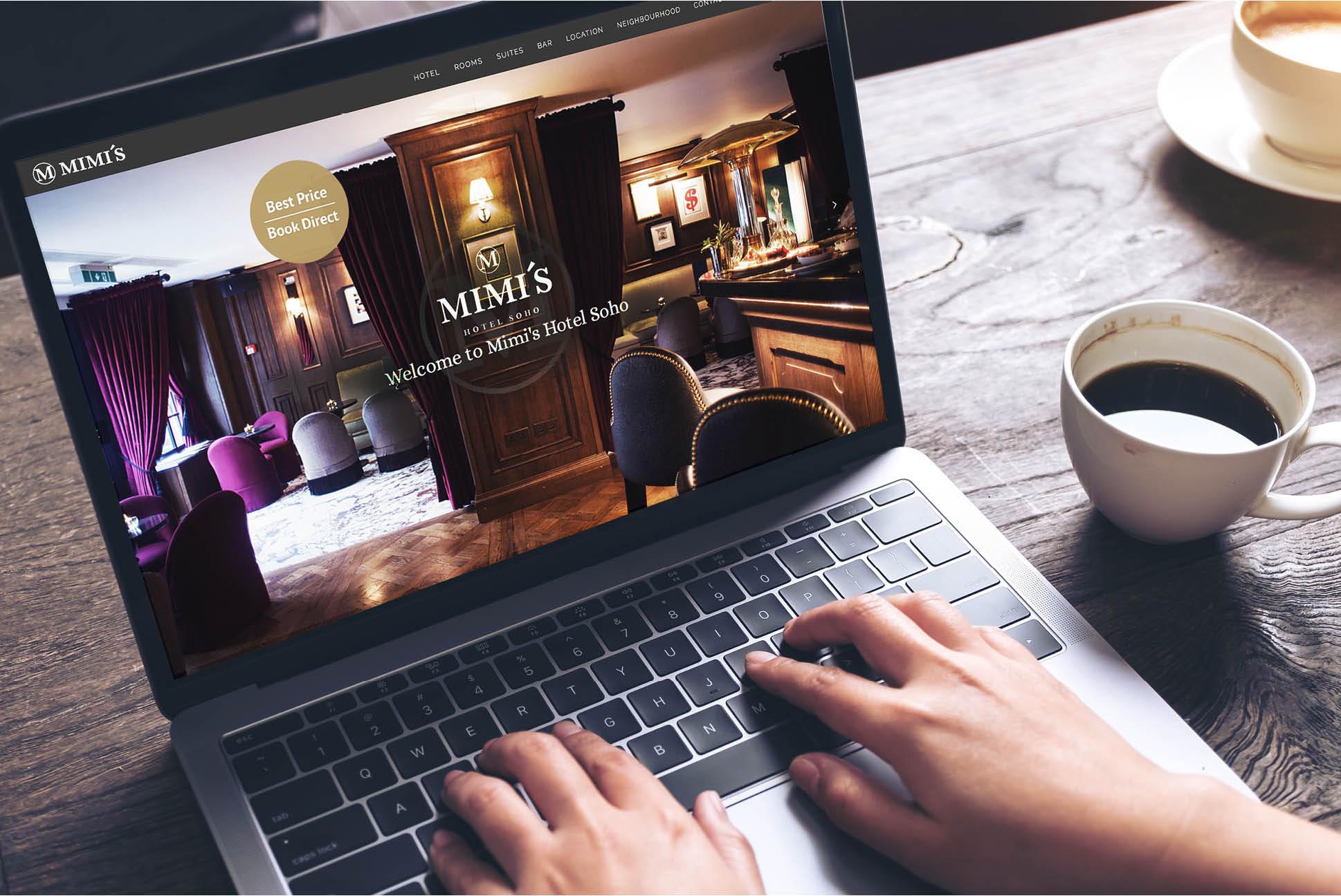 Mimi's Hotel Soho website | Independent Marketing - IM London | Hospitality and Hotel Branding | Mimi's Hotel