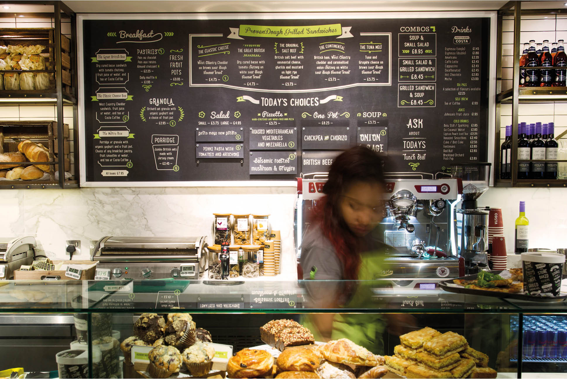 ProvenDough Menu board | Branding and Identity Design - Independent Marketing | IM London