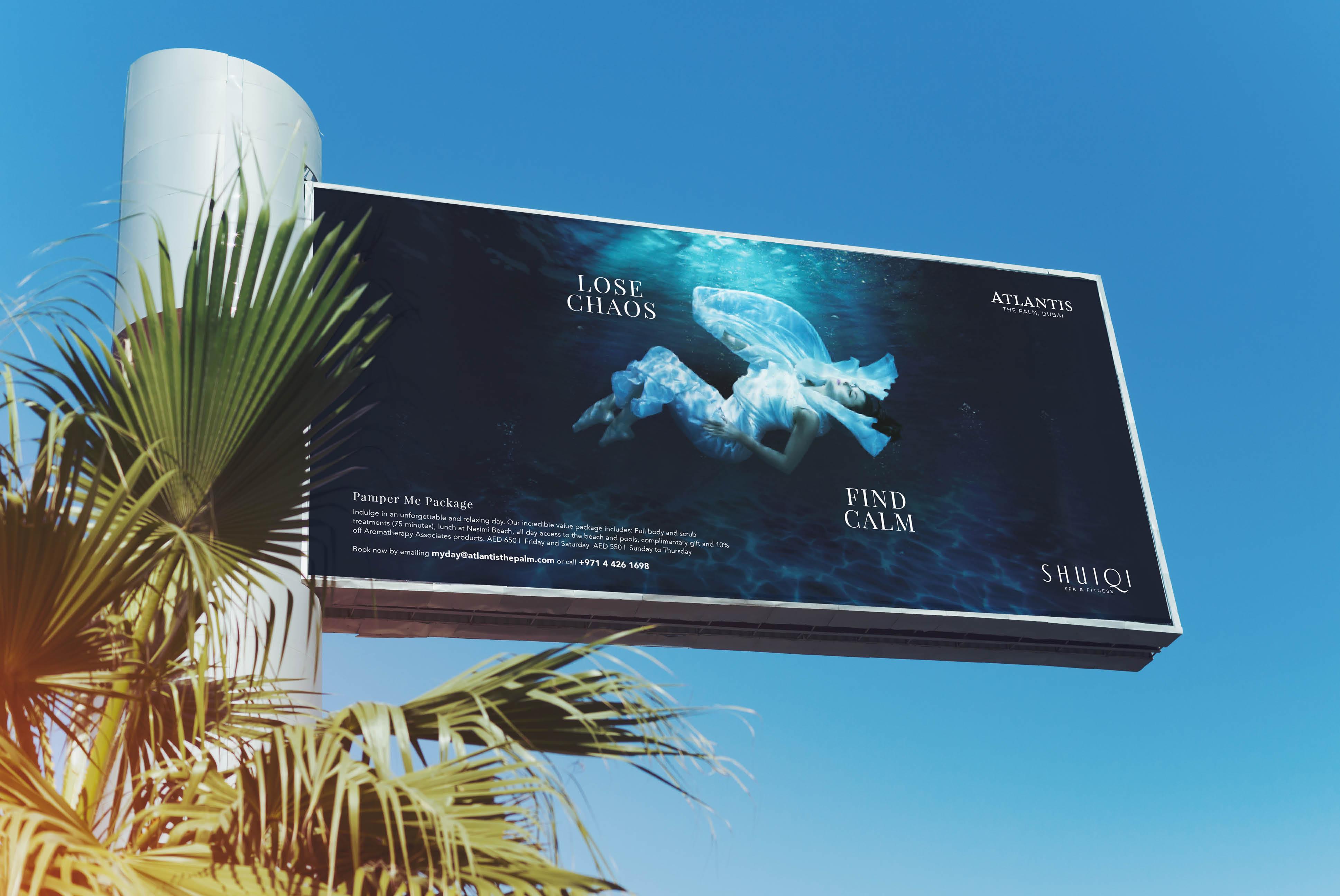 Atlantis Shuiqi Spa | Creative Advertising Campaign | independent Marketing | IM Dubai