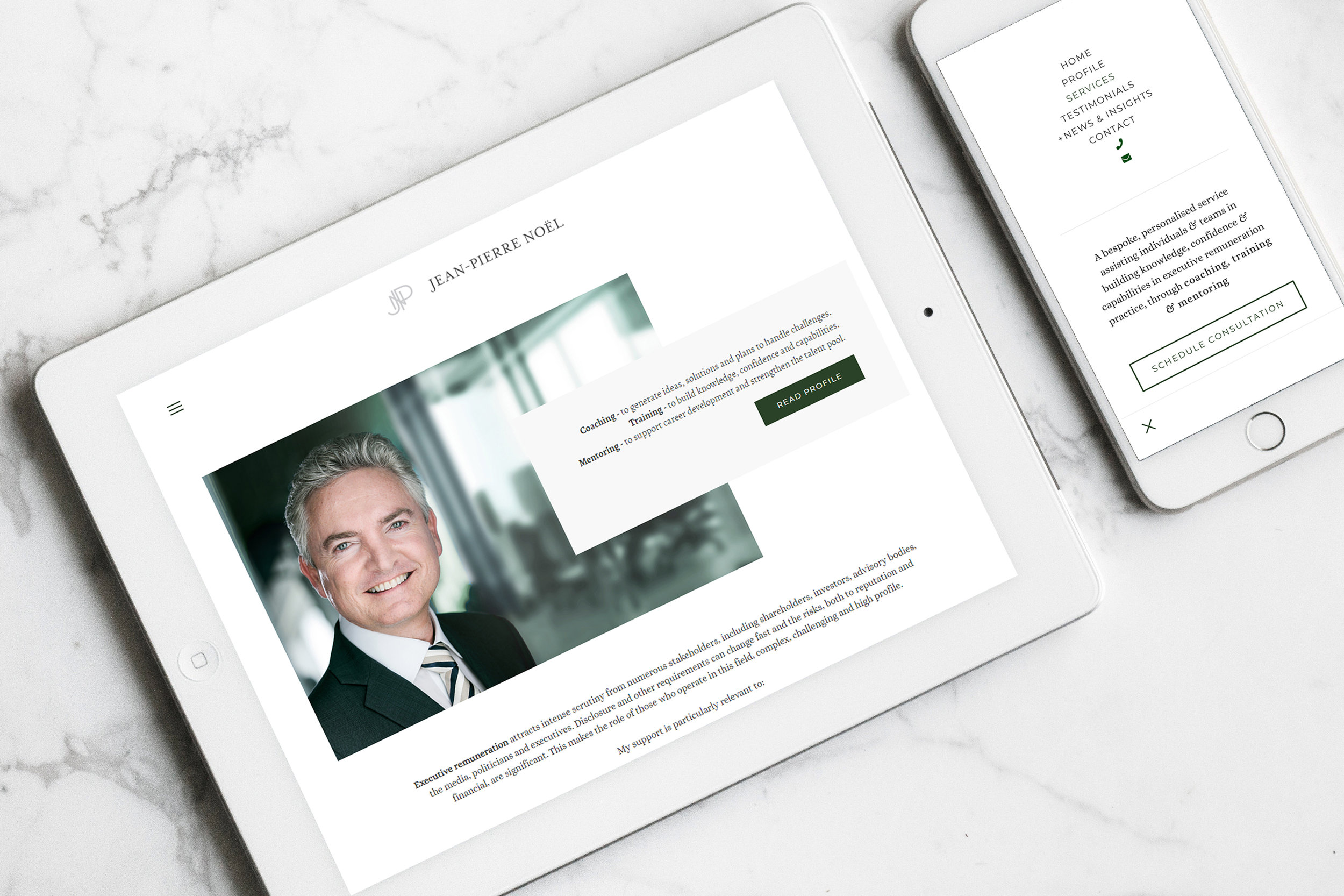 Jean Pierre Noel Executive Consulting - Executive Renumeration   Independent Marketing - Website Design and Branding   IM London