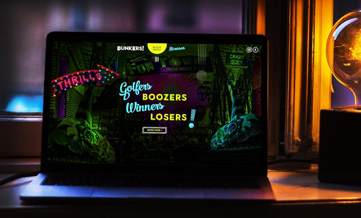 Bunkers! Crazy Golf | Independent Marketing | IM London Branding and Website Design