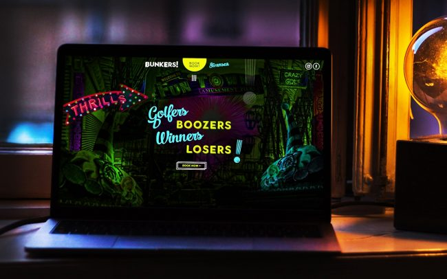 Bunkers! Crazy Golf | Independent Marketing | IM London Branding and Website Design