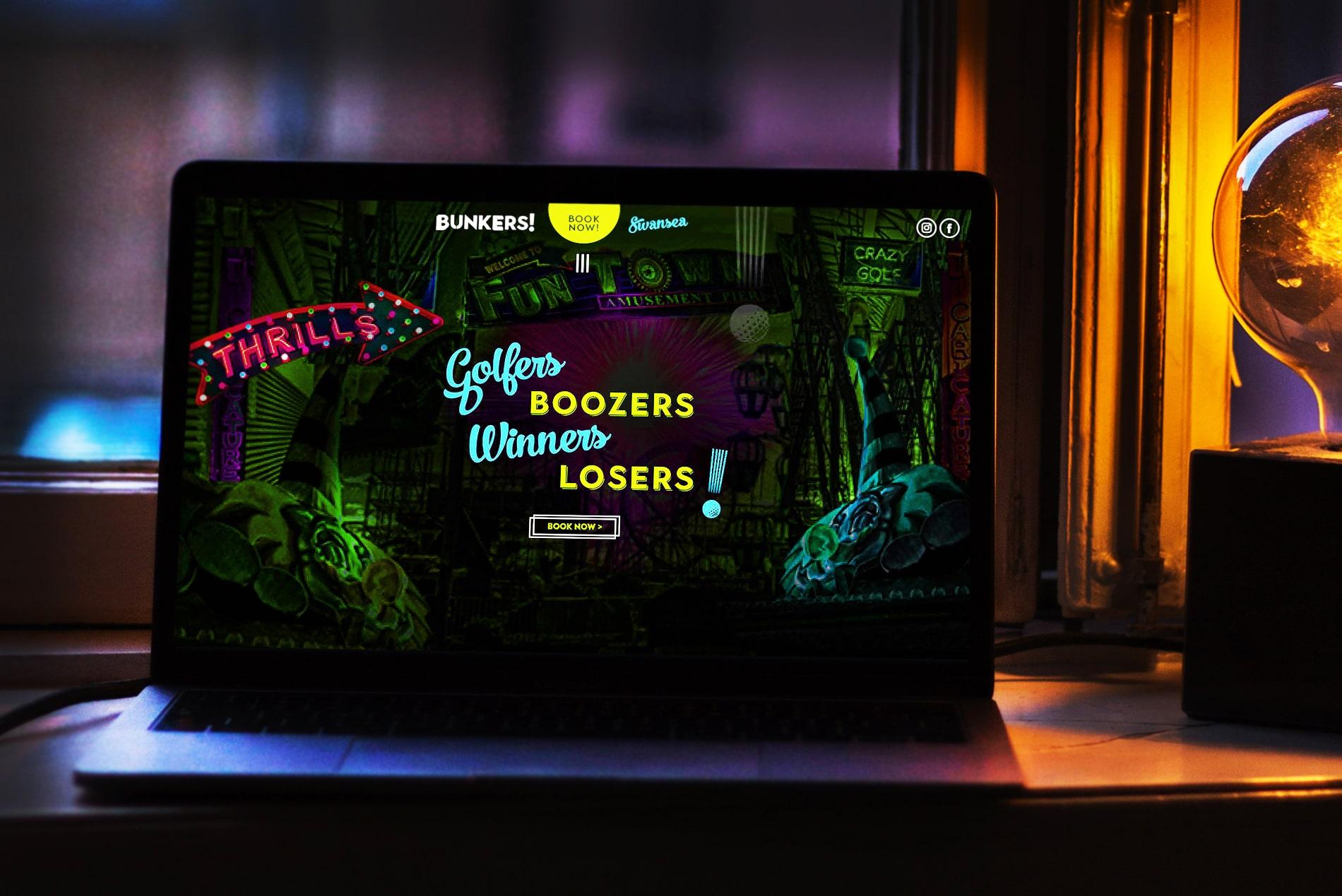 Bunkers! Crazy Golf   Independent Marketing   IM London Branding and Website Design