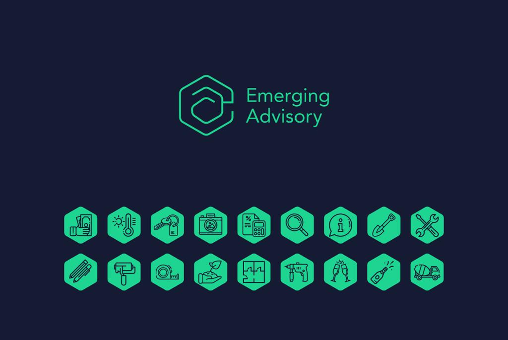 Emerging Advisory Logo & Icons