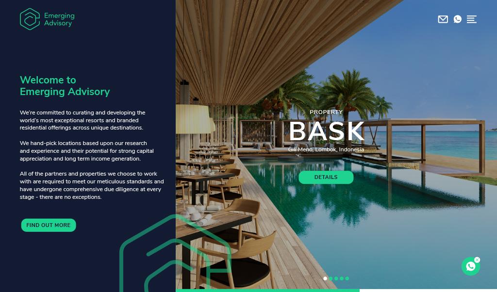 Emerging Advisory Homepage Design