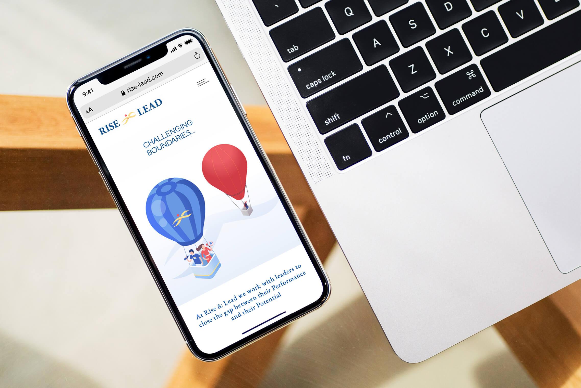 Rise & Lead Mobile website