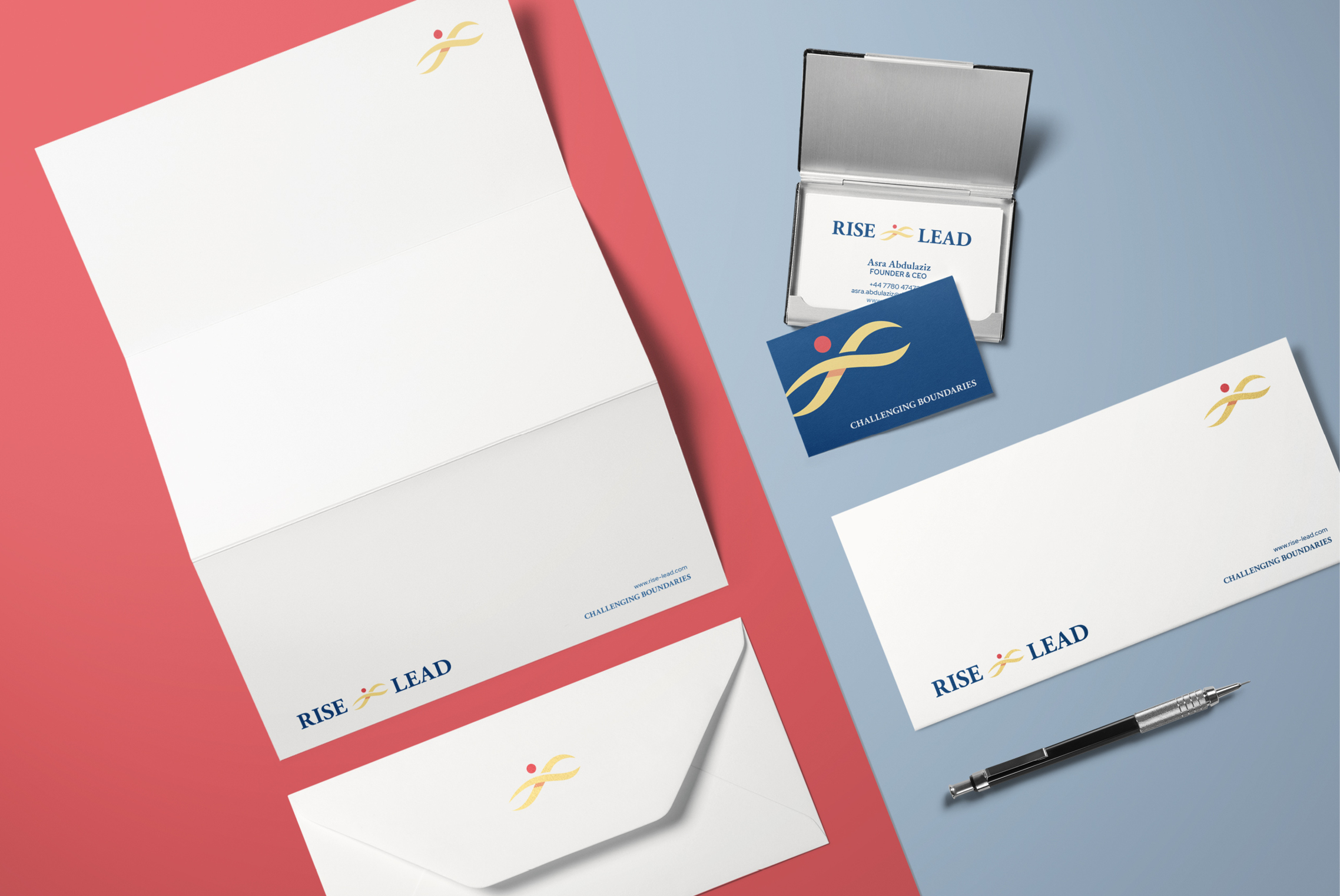 Rise & Lead stationery