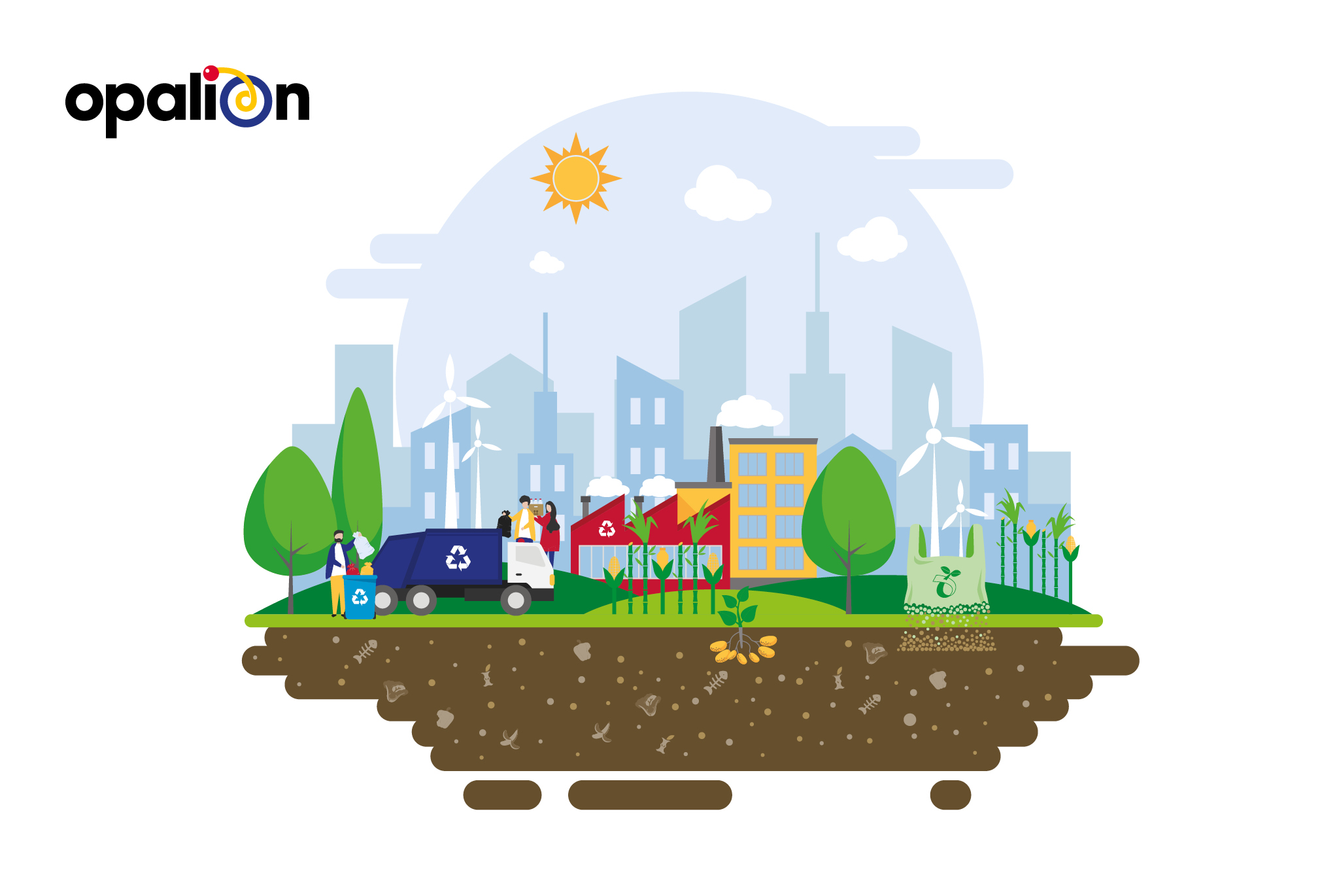 Opalion sustainable brochure spread